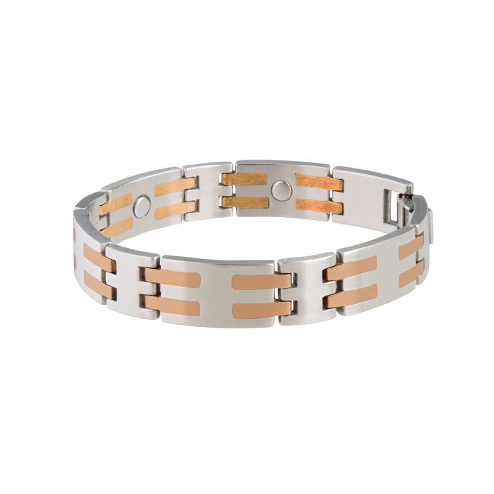 Sabona Stainless/Copper Bar Magnetic Bracelet | eBay